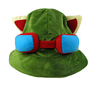 Hat/Cap Inspired by LOL Teemo Anime/ Video Games Cosplay Accessories Cap / Hat Green Polar Fleece Male