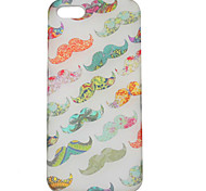 PVC Colorful Moustache Hard Case for iPhone 5/5S