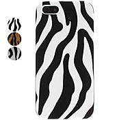 Zebra Stripe Pattern Stick to Leather Hard Case for iPhone 5/5S (Assorted Colors)