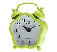 "4"" Mini Style Analog Quartz Alarm Clock (1xButton Battery, Assorted Colors)"