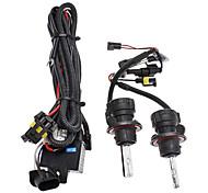 Xenon H13-3 High/Low Beam Conversion HID Lamp Bulbs for Car Headlight (12V-35W, 2-Piece)
