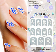 3PCS Mixed-style Paper Nail Art Image Stamp Stickers LK Series No.5