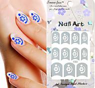 3PCS misto estilo de papel Nail Art Imagem selo adesivos LK Série No.5