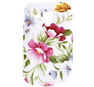 Patrón de flores TPU Funda para Samsung Galaxy Tendencia Duos S7562