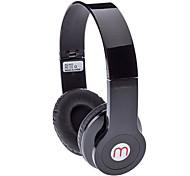 Alta qualidade fone de ouvido estéreo-603 com FM, LED Display (Preto)