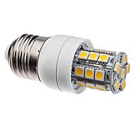 E26/E27 4W 27 SMD 5050 300 LM Warm White LED Corn Lights AC 220-240 V