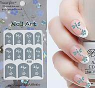 3PCS Mixed-style Paper Nail Art Image Stamp Stickers LK Series No.31