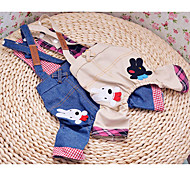 Lovely Rabbit Pattern Cowboy Suspender Trousers for Dogs (Assorted Color,XS-XL)