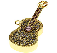 Guitar Shaped Metal Material USB Stick 32G(Gold)