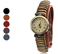 Women's Leather Analog Quartz Wrist Watch (Assorted Colors)