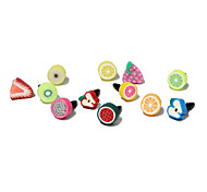 Frutta 3,5 mm Polymer Clay anti-polvere per cuffie per iPhone e iPad