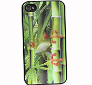 3D Effect Bamboo Forest Frog Pattern Hard Case for iPhone 4/4S