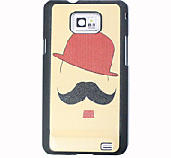 Red Hat Black Mustache Pattern Hard Case for Samsung I9100