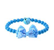 Dots Bow rilievo Collare elastico con Bell per gli animali domestici (colori assortiti)