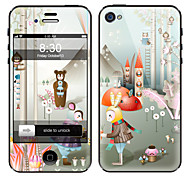 Cartoon Character Pattern Front and Back Screen Protector Film for iPhone 4/4S