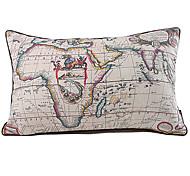Índia Mapa Imprimir Linen fronha decorativa Retro