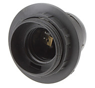 E27 Base Screw Thread Bulb Socket Lamp Holder (Black)