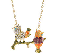 Drop Glaze Singing Bird Necklace