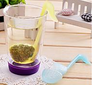 té en forma de símbolo fonético deja filtro colador (color al azar)