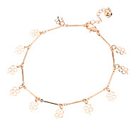 Lucky Grass Metal Anklet(Golden)