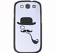 Pipe Mustache Pattern Hard Case for Samsung I9300