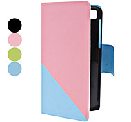 Double-Colors PU Leather Full Body Case with Stand and Card Slot for Blackberry Z10 (Assorted Colors)