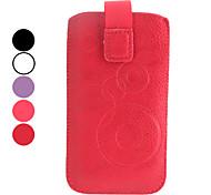 elegant schützende pu Ledertasche für iphone 5/5s und iphone 4 (farblich sortiert)