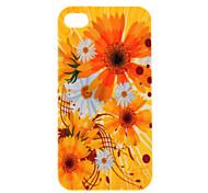 Patrón Crisantemo protector duro caso para iPhone 4/4S