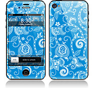 Blue Flower Pattern Front and Back Full Body Protector Stickers for iPhone 5