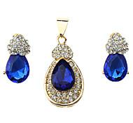 Z&X®  Water Droplets Shape Pendant and Earrings Jewelry Set