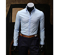 Men's Long Sleeve Shirt , Cotton Casual Pure