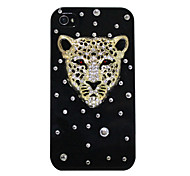 Zircon Leopard Pattern Hard Case for iPhone 4/4S