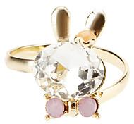 Cristal Coelho Bow abertura do anel