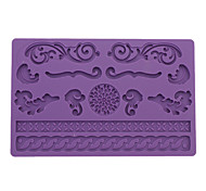 DIY Baking Encaje Estilo Fondant Cake Mould Embossing (color al azar)