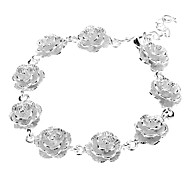Sterling Silver Flower Plating pulsera