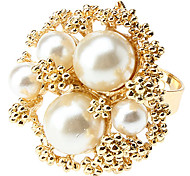 z&x® perle Bague fleur en alliage