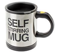 Автоматическая чашка кофе / кружка питьевая посуда из нержавеющей стали чашка кофе само перемешивание кнопка с электрической кружкой