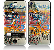 Scrawl Pattern Front and Back Full Body Protector Stickers for iPhone 5