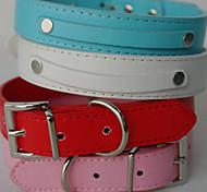 Chien Colliers / Laisses Rouge / Noir / Blanc / Bleu / Incanardin Cuir PU