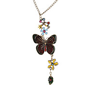 Drop Glaze Butterfly Vintage Necklace