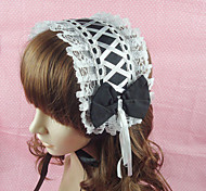 Lolita Jewelry Classic/Traditional Lolita Headwear Princess White / Black Lolita Accessories Headpiece Bowknot / Lace / Solid For Women