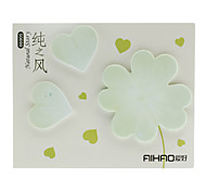 Leaves Shaped Sticky Memo Note Set (Green)