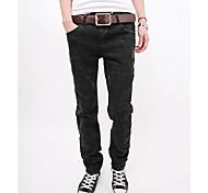 Men's Elastic Dark Gray Jeans
