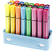 24 Colors Fat Head Water Color Pens Set (Random Color)