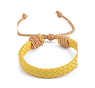 Fashion Pu Weave  Leather Strand Bracelet