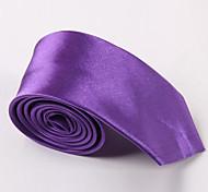 Caramella di modo Colore stretta Poliestere Cravatta Uomo