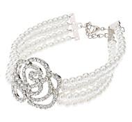 Graceful Hollow-out Rose Diamond-encrusted Bracelet