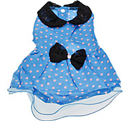 Partysu Style Bow Tie Dot Pattern Cute Ball Gown for Dogs (XS-XL)