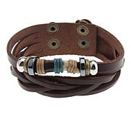 Black Ivory Leather Bracelet