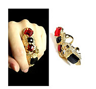 Ring Fashion Casual Jewelry Zircon Women Statement Rings / Midi Rings 1pc,One Size Gold